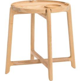 NOFU Bakkebord, Massivt asketræ natur, H 48 cm