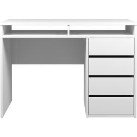 Pragmatica Skrivebord, Hvid, 110 cm