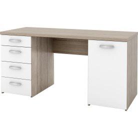 Raw Skrivebord, Hvid Eg, 145 cm