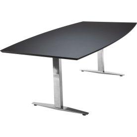 Jive konferencebord 220x110/90 cm. sort linoleum