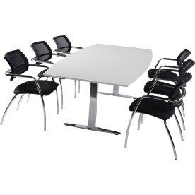 Terme Basic konferencesæt, 220x110/90 cm, laminat