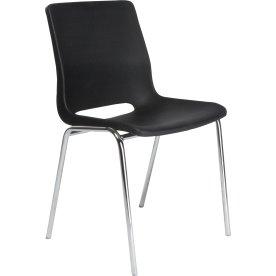 Ana stol u/polster Graphite / krom
