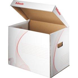 Esselte Opbevaringskasse flip top, FSC, hvid