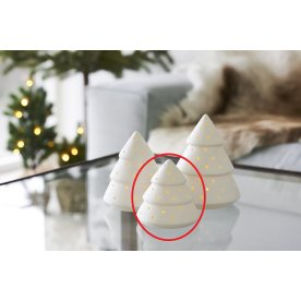 Olina LED keramiktræ small, Hvid