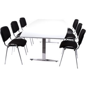 Casa Basic konferencesæt, 220x110/90 cm, laminat