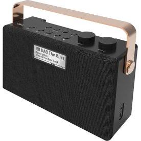 Clint F7 stereo DAB+/FM Radio, sort