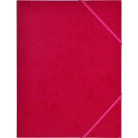 Budget elastikmappe, karton, rosa