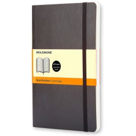 Moleskine Clas. Soft Notesbog Large, linj., sort