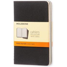 Moleskine Cah. Notesbog Pocket, linj., sort, 3 stk