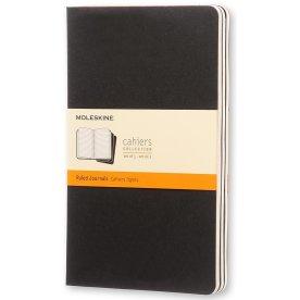 Moleskine Cah. Notesbog Large, linj., sort, 3 stk.