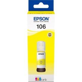 Epson T106 blæktank, gul, 70ml