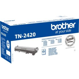 Brother TN2420 lasertoner, sort, 3000s