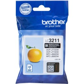 Brother LC3211 blækpatroner, sort, 200s