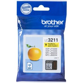 Brother LC3211 blækpatroner, gul, 200s