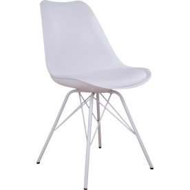 Oslo spisebordsstol, hvid m. hvidt stel