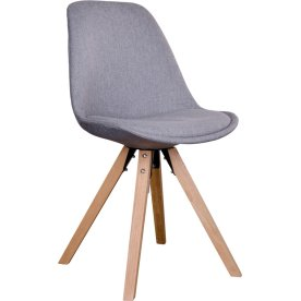 Bergen spisebordsstol, lysegrå m. træben