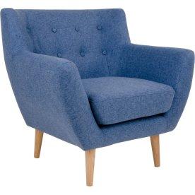 Monte Loungestol, blå m. træben