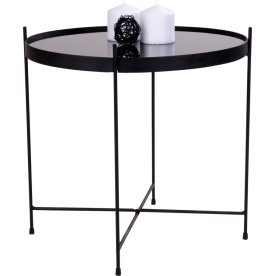 Coffee table / kaffebord, sort / glas