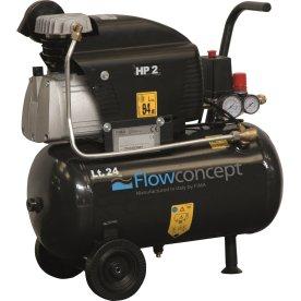 Flowconcept kompressor, 24 l. olieholdig, 8 bar