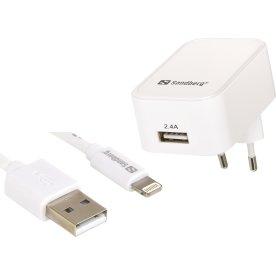 Sandberg universal USB-oplader med Lightning-kabel