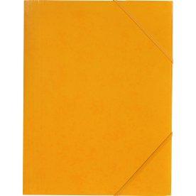 Budget elastikmappe, karton, gul