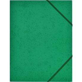 Budget elastikmappe, karton, grøn