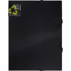 DocuSmart elastikmappe A4, PP, 3cm ryg, sort