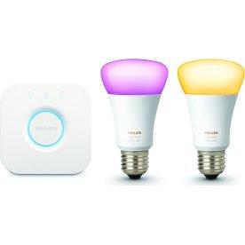 Philips HUE E27 startpakke, hvid+farvet