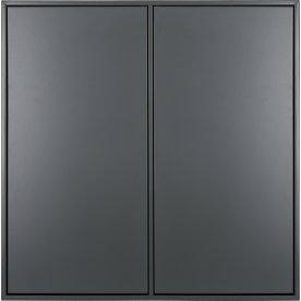 HAVANA skab m/4rum, 2 låger, Dark Grey, D.34 m/oph