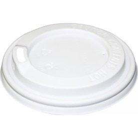 Plastlåg højt til papbæger Ø80 mm