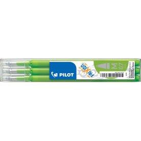 Refill til Pilot Frixion Clicker, lysegrøn, 3 stk.
