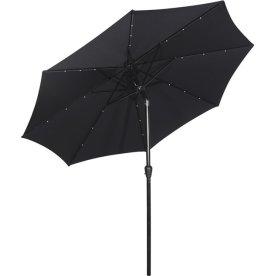 Frank parasol m/solar LED og tilt Ø3 m, sort