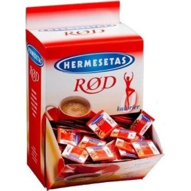Hermesetas Rød Sødetabletter i display, 1000 x 2pk