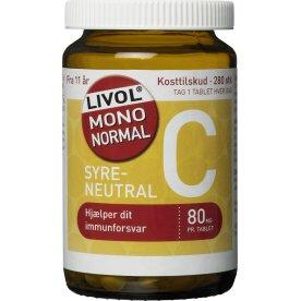 Livol Mono Normal C vitamin 80 mg, 280 stk