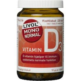 Livol Mono Normal D vitamin, 220 stk