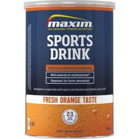 Maxim E Sports Drink fresh orange, 480g