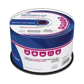 MediaRange CD-R 700MB/80min 52x printable, 50 stk