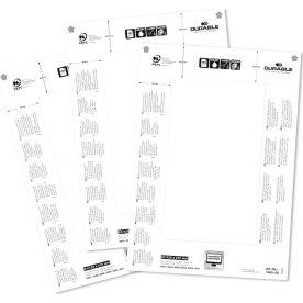Durable Indstik til bordnavneskilt 61x210mm, 20stk