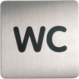 Durable Skilt Firkantet WC