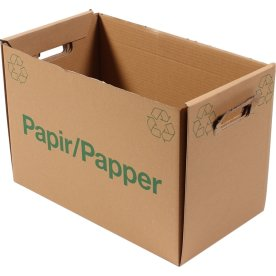 Papkasse til papiraffald, 440x244x300 mm