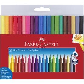 Faber-Castell Grip tusch, 20 stk.