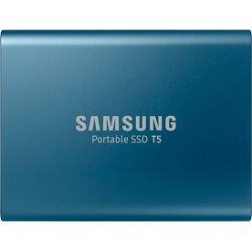 Samsung T5 ekstern SSD harddisk 250GB, blå