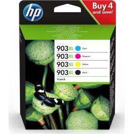 HP 903XL C/M/Y/K blækpatroner, sampak
