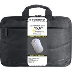 "Tucano computertaske 15,6"" + Trådløs mus"
