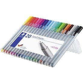 Staedtler Triplus fineliner boks med 20 farver