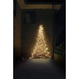 Væg juletræ m/ 240 LED lys, H 400 cm