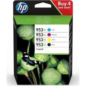 HP 953XL C/M/Y/K blækpatroner, blister, sampak