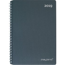 Mayland A5 ugekalender, højformat, mørk grå