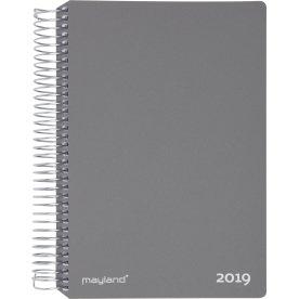 Mayland Spiralkalender, uge, tværformat, grå