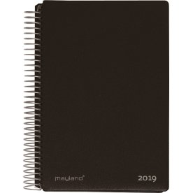 Mayland Spiralkalender, 2 dage, sort